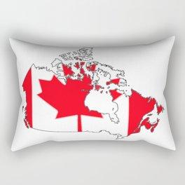 Canada Map with Canadian Flag Rectangular Pillow