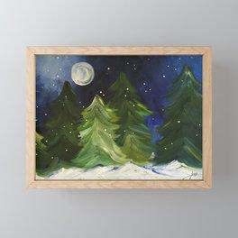 Winter Moon Framed Mini Art Print