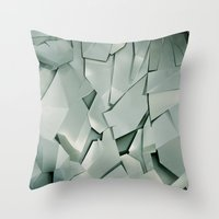 metal Throw Pillows featuring METAL by peocle