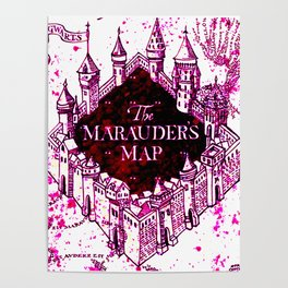 Pink of marauders map Poster