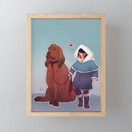 I love you, woof! Framed Mini Art Print