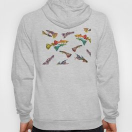 Tropical Colors, Guppy Aquarium Fish , Aquarium Art Underwater Hoody