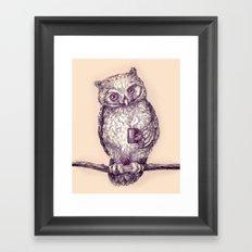 Caffeinated Owl Framed Art Print