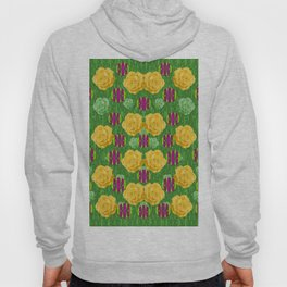 roses dancing on a tulip field of festive colors Hoody