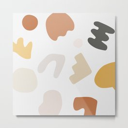 Abstract Shape Series - Autumn Color Study Metal Print