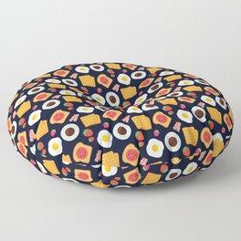 Funky Breakfast Food Bacon & Egg Pattern Floor Pillow