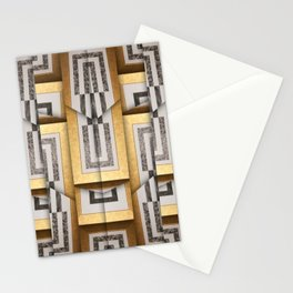 280 brown gold white black Stationery Cards