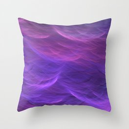 Pink and Purple Ultra Violet Soft Waves Throw Pillow