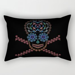Marine Creatures Skull Rectangular Pillow
