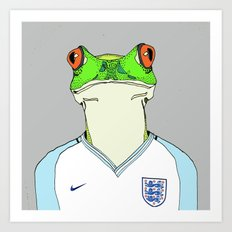Football Frog Art Print