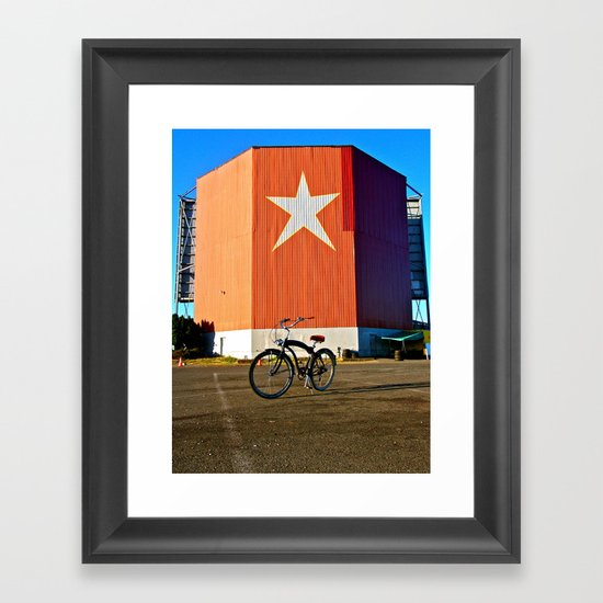 Nostalgic view Framed Art Print