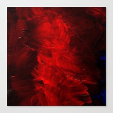 Red Abstract Paint Canvas Print