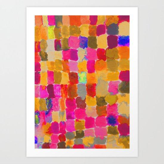 Painted Swatches: Joy Art Print
