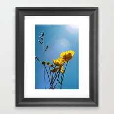 {build me up buttercup} Framed Art Print