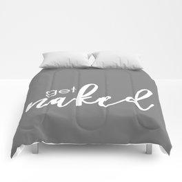 Get Naked // White on Dark Grey Comforters
