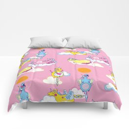 Happy Little Unicorn Comforters