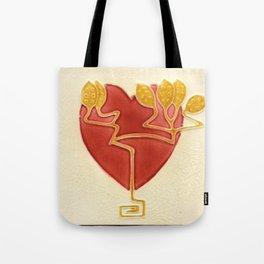 Art Nouveau Heart Tote Bag