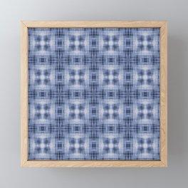 Shibori Japanese Kimono pattern Framed Mini Art Print