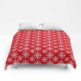 Winter Wonderland Snowflake Christmas Pattern Comforters