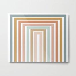 Geometric Rainbow 116 Metal Print