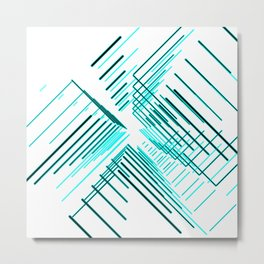 Galaxy space abstract blue  Metal Print