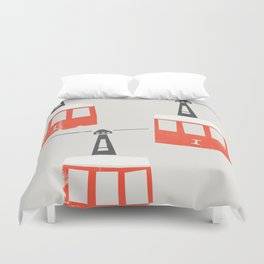 Barcelona Cable Cars Duvet Cover