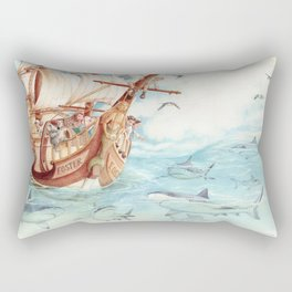 Observing Sharks Rectangular Pillow