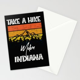 Moline Indiana Vintage Take A Hike Funny Stationery Cards