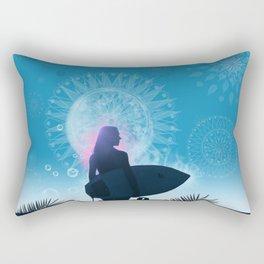 blue summer Rectangular Pillow