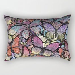 butterflies aflutter colorful version Rectangular Pillow