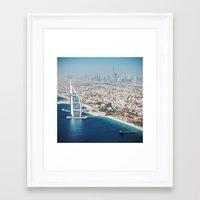 arab Framed Art Prints featuring Burj Al Arab by franckreporter