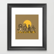 YELLOW BRICKS ROAD Framed Art Print