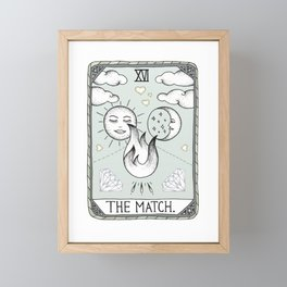 The Match Framed Mini Art Print