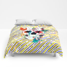 Abstract Skull Comforters