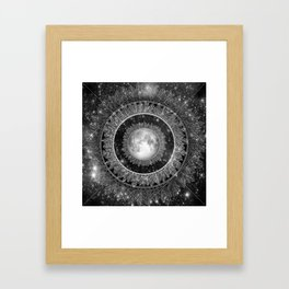 Major Tom (floating in my tin can, far above the Moon) Framed Art Print