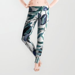 black olive watercolor 2018 Leggings