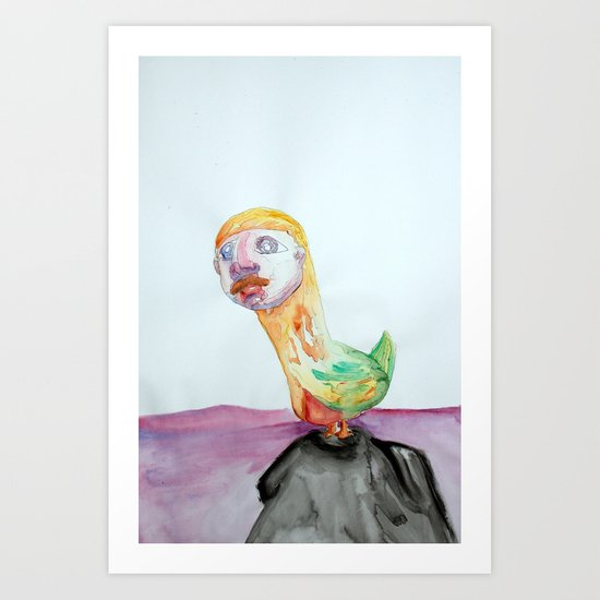 Bird Brain Art Print