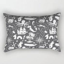 High Seas Adventure // Charcoal Rectangular Pillow