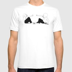 rock beats scissors MEDIUM Mens Fitted Tee White