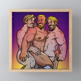 Chris, Chris, and Chris Framed Mini Art Print