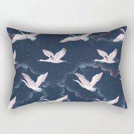 Crane Ladies Night Pattern Rectangular Pillow