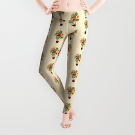 Whimsical Hot Air Balloon Leggings