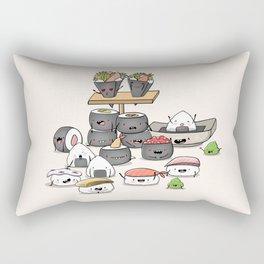 Kawaii Sushi Rectangular Pillow