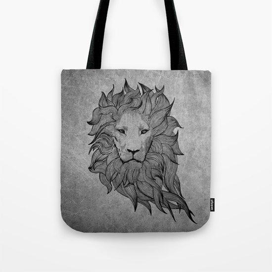 Grey Lion Tote Bag