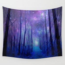 Fantasy Path Purple Blue Wall Tapestry