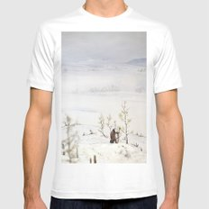 Tom Feiler Solitary Trapper Mens Fitted Tee White MEDIUM