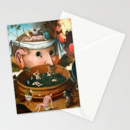 """Hieronymus Bosch (school) """"The Vision of Tnugdalus"""" Stationery Cards"""