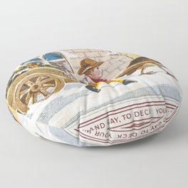 Christmas Card (1874) by anonymous Floor Pillow