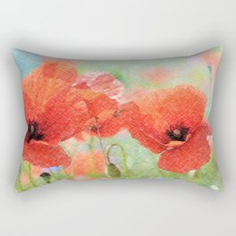 poppies in the meadow 170 Rectangular Pillow