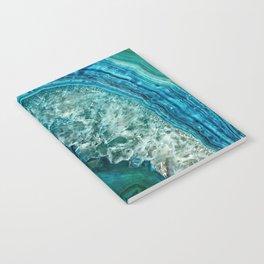 Aqua turquoise agate mineral gem stone - Beautiful Backdrop Notebook